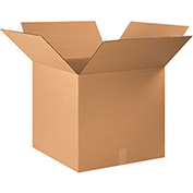 "Corrugated Boxes 24"" x 24"" x 22"", 200 lb. Test/ECT-32 Kraft - 10 Pack"