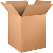 "Corrugated Boxes 24"" x 24"" x 28"", 200 lb. Test/ECT-32 Kraft - 10 Pack"