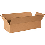 "Flat Corrugated Boxes 26"" x 10"" x 4"", 200 lb. Test/ECT-32 Kraft - 25 Pack"