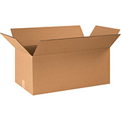"Corrugated Boxes 26"" x 14"" x 12"", 200 lb. Test/ECT-32 Kraft - 20 Pack"
