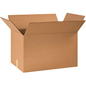 "Corrugated Boxes 26"" x 16"" x 16"", 200 lb. Test/ECT-32 Kraft - 15 Pack"