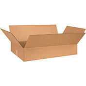 "Cardboard Single Wall Corrugated Box 26"" x 17"" x 5"" 200Lb. Test/ECT-32 Kraft - 25 Pack"