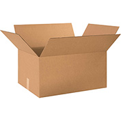"Cardboard Single Wall Corrugated Box 26"" x 20"" x 14"" 200Lb. Test/ECT-32 Kraft - 15 Pack"