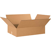 "Cardboard Single Wall Corrugated Box 26"" x 20"" x 8"" 200Lb. Test/ECT-32 Kraft - 15 Pack"