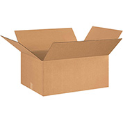 "Corrugated Boxes 26"" x 22"" x 12"", 200 lb. Test/ECT-32 Kraft - 15 Pack"