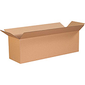 "Cardboard Long Corrugated Box 28"" x 10"" x 10"" 200Lb. Test/ECT-32 Kraft - 25 Pack"