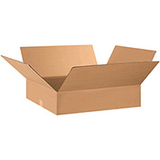 "Flat Corrugated Boxes 28"" x 16"" x 5"", 200 lb. Test/ECT-32 Kraft - 25 Pack"