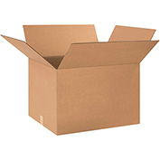 "Cardboard Single Wall Corrugated Box 28"" x 24"" x 20"" 200Lb. Test/ECT-32 Kraft - 10 Pack"