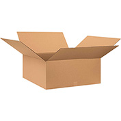 "Cardboard Single Wall Corrugated Box 28"" x 28"" x 10"" 200Lb. Test/ECT-32 Kraft - 10 Pack"