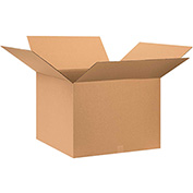 "Cardboard Single Wall Corrugated Box 28"" x 28"" x 22"" 200Lb. Test/ECT-32 Kraft - 10 Pack"