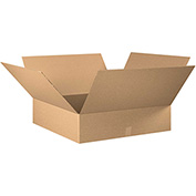 "Flat Corrugated Boxes 28"" x 28"" x 8"", 200 lb. Test/ECT-32 Kraft - 10 Pack"