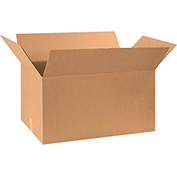 "Corrugated Boxes 30"" x 18"" x 16"", 200 lb. Test/ECT-32 Kraft - 15 Pack"