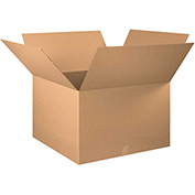 "Cardboard Single Wall Corrugated Box 30"" x 30"" x 20"" 200Lb. Test/ECT-32 Kraft - 10 Pack"