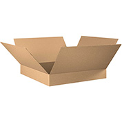 "Flat Corrugated Box 30"" x 30"" x 6"" 200lb. Test/ECT-32 - 15 Pack"