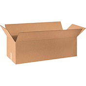 "Long Corrugated Boxes 32"" x 12"" x 10"", 200 lb. Test/ECT-32 Kraft - 20 Pack"