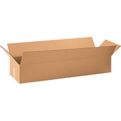 "Cardboard Long Corrugated Box 36"" x 10"" x 6"" 200Lb. Test/ECT-32 Kraft - 25 Pack"