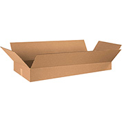 "Flat Corrugated Boxes 36"" x 16"" x 5"", 200 lb. Test/ECT-32 Kraft - 15 Pack"