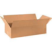 "Cardboard Single Wall Corrugated Box 36"" x 20"" x 12"" 200Lb. Test/ECT-32 Kraft - 15 Pack"