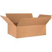 "Cardboard Single Wall Corrugated Box 36"" x 24"" x 10"" 200Lb. Test/ECT-32 Kraft - 10 Pack"