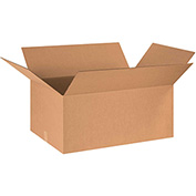 "Cardboard Single Wall Corrugated Box 36"" x 24"" x 18"" 200Lb. Test/ECT-32 Kraft - 10 Pack"