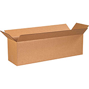 "Long Corrugated Boxes 40"" x 10"" x 10"", 200 lb. Test/ECT-32 Kraft - 15 Pack"