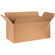 "Cardboard Single Wall Corrugated Box 40"" x 20"" x 20"" 200Lb. Test/ECT-32 Kraft - 10 Pack"