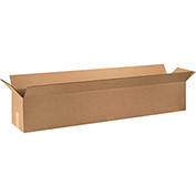 "Long Corrugated Boxes 48"" x 10"" x 10"", 200 lb. Test/ECT-32 Kraft - 20 Pack"