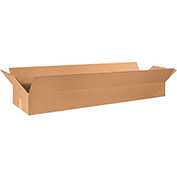 "Long Corrugated Boxes 48"" x 12"" x 6"", 200 lb. Test/ECT-32 Kraft - 20 Pack"