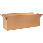 "Cardboard Long Corrugated Box 48"" x 16"" x 16"" 200Lb. Test/ECT-32 Kraft - 10 Pack"
