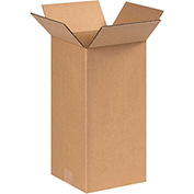 "Tall Corrugated Boxes 6"" x 6"" x 14"" - 25 Pack"
