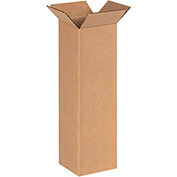 "Tall Cardboard Corrugated Box 6"" x 6"" x 20"" 200lb. Test/ECT-32 - 25 Pack"