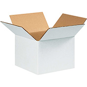 "6"" x 6"" x 4"" White Corrugated Boxes 200lb. Test/ECT-32"