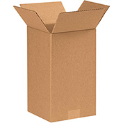 "Tall Corrugated Boxes 7"" x 7"" x 14"" - 25 Pack"