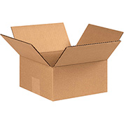 "Flat Corrugated Boxes 7"" x 7"" x 3"" - 25 Pack"