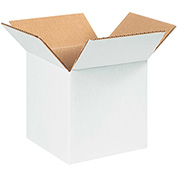 "White Corrugated Boxes 7"" x 7"" x 7"" - 25 Pack"