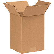 "Cardboard Corrugated Boxes 7"" x 7"" x 9"", 200 lb. Test/ECT-32 Kraft - 25 Pack"