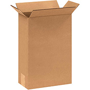 "Corrugated Boxes 8"" x 4"" x 12"", 200 lb. Test/ECT-32 Kraft - 25 Pack"