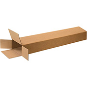 "Side Loading Boxes 8"" x 4"" x 46"", 200 lb. Test/ECT-32 Kraft - 15 Pack"