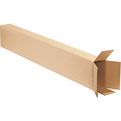 "Side Loading Boxes 8"" x 4"" x 52"", 200 lb. Test/ECT-32 Kraft - 15 Pack"