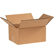Cardboard Corrugated Box 8 x 6 x 4 200lb. Test/ECT-32, Pack of 25