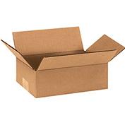 "Corrugated Boxes 9"" x 6"" x 3"" 200lb. Test/ECT-32 25 Pack"
