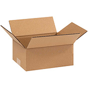 "Flat Corrugated Boxes 9"" x 7"" x 3"" 200lb. Test/ECT-32 25 Pack"