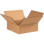 "Cardboard Corrugated Boxes 9 x 9 x 3"", 200 lb. Test/ECT-32 Kraft - 25 Pack"