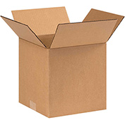 "Cardboard Corrugated Boxes 9 x 9 x 9"", 200 lb. Test/ECT-32 Kraft - 25 Pack"
