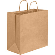 "Shopping Paper Bags 13"" x 7"" x 13"" Kraft 250 Pack"