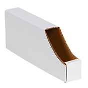 "2"" x 12"" x 4-1/2"" Stackable White Corrugated Bin Box - BINB212 - Pkg Qty 50"