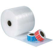 "UPSable Bubble Rolls 12"" x 300' x 3/16"", Non-Perforated, Clear, 4/PACK"