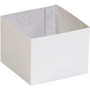 "White Deluxe Gift Box Bottoms 4"" x 4"" x 3"" - 50 Pack"