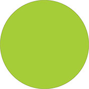 "3/4"" Circles Removable Labels Fluorescent Green 500 Per Roll"