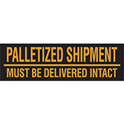 "Must Be Delivered Intact 3"" x 10"" Pallet Corner Labels Fluorescent Orange 500 Per Roll"